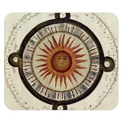 Ancient Aztec Sun Calendar 1790 Vintage Drawing Double Sided Flano Blanket (small)  by yoursparklingshop