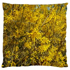 Nature, Yellow Orange Tree Photography Large Flano Cushion Case (two Sides) by yoursparklingshop