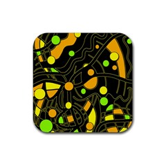 Floating Rubber Square Coaster (4 Pack)  by Valentinaart