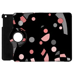 Pink And Gray Abstraction Apple Ipad Mini Flip 360 Case by Valentinaart
