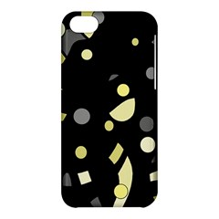 Yellow And Gray Abstract Art Apple Iphone 5c Hardshell Case by Valentinaart