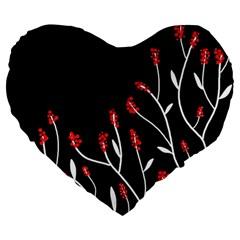 Elegant Tree 2 Large 19  Premium Heart Shape Cushions by Valentinaart