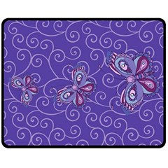 Butterfly Fleece Blanket (medium)  by olgart