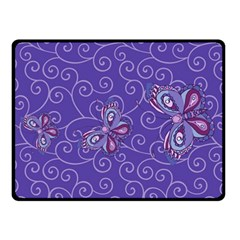 Butterfly Fleece Blanket (small) by olgart