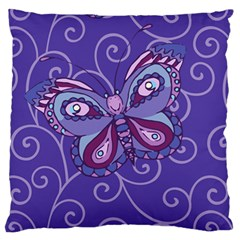 Butterfly Large Cushion Case (two Sides) by olgart