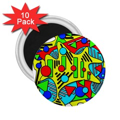 Colorful Chaos 2 25  Magnets (10 Pack)  by Valentinaart