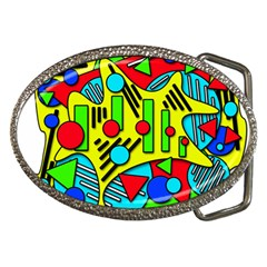 Colorful Chaos Belt Buckles by Valentinaart