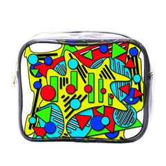 Colorful Chaos Mini Toiletries Bags by Valentinaart