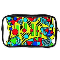 Colorful Chaos Toiletries Bags by Valentinaart