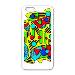 Colorful Chaos Apple Iphone 6/6s White Enamel Case by Valentinaart