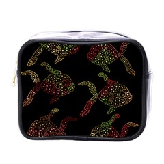 Decorative Fish Pattern Mini Toiletries Bags by Valentinaart
