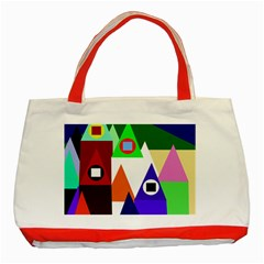 Colorful Houses  Classic Tote Bag (red) by Valentinaart