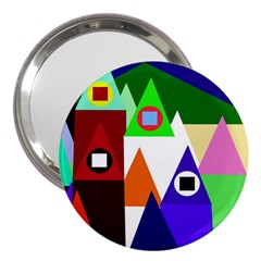 Colorful Houses  3  Handbag Mirrors by Valentinaart