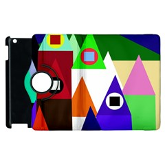 Colorful Houses  Apple Ipad 2 Flip 360 Case by Valentinaart