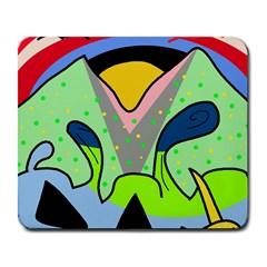 Colorful Landscape Large Mousepads by Valentinaart