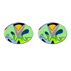 Colorful Landscape Cufflinks (oval) by Valentinaart