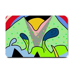 Colorful Landscape Small Doormat  by Valentinaart