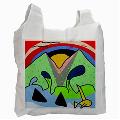 Colorful Landscape Recycle Bag (two Side)  by Valentinaart