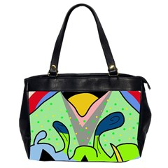 Colorful Landscape Office Handbags (2 Sides)  by Valentinaart