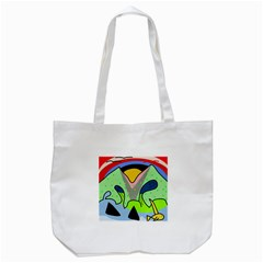 Colorful Landscape Tote Bag (white) by Valentinaart