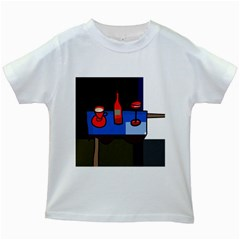 Table Kids White T Shirts by Valentinaart