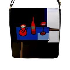 Table Flap Messenger Bag (l)  by Valentinaart