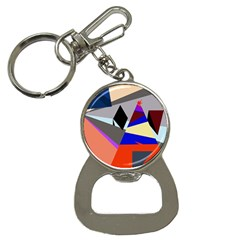 Geometrical Abstract Design Bottle Opener Key Chains by Valentinaart