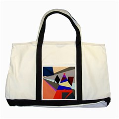 Geometrical Abstract Design Two Tone Tote Bag by Valentinaart
