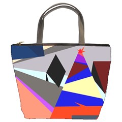 Geometrical Abstract Design Bucket Bags by Valentinaart