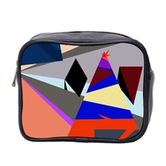 Geometrical Abstract Design Mini Toiletries Bag 2 Side by Valentinaart