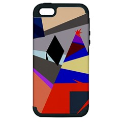 Geometrical Abstract Design Apple Iphone 5 Hardshell Case (pc+silicone) by Valentinaart