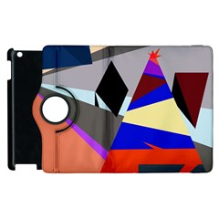 Geometrical Abstract Design Apple Ipad 2 Flip 360 Case by Valentinaart