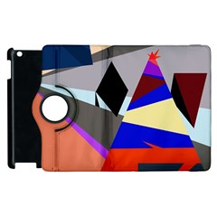 Geometrical Abstract Design Apple Ipad 3/4 Flip 360 Case by Valentinaart