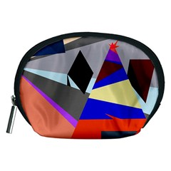 Geometrical Abstract Design Accessory Pouches (medium)  by Valentinaart