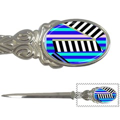 Blue Lines Decor Letter Openers by Valentinaart
