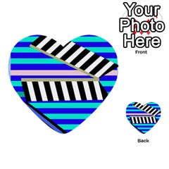 Blue Lines Decor Multi Purpose Cards (heart)
