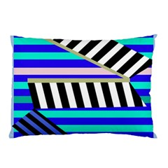 Blue Lines Decor Pillow Case by Valentinaart