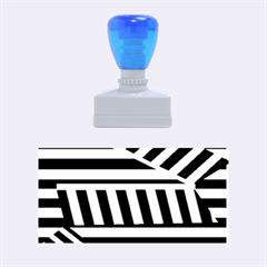 Blue Lines Decor Rubber Stamps (medium)  by Valentinaart
