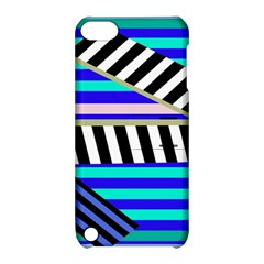 Blue Lines Decor Apple Ipod Touch 5 Hardshell Case With Stand by Valentinaart