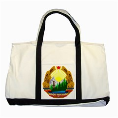 National Emblem Of Romania, 1965 1989  Two Tone Tote Bag by abbeyz71