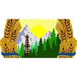 National Emblem of Romania, 1965-1989  SORRY 3D Greeting Card (8x4) Front