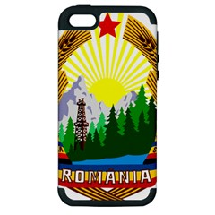 National Emblem Of Romania, 1965 1989  Apple Iphone 5 Hardshell Case (pc+silicone) by abbeyz71