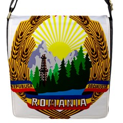 National Emblem Of Romania, 1965 1989  Flap Messenger Bag (s)