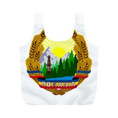 National Emblem Of Romania, 1965 1989  Full Print Recycle Bags (m)  by abbeyz71