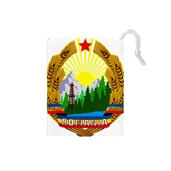 National Emblem Of Romania, 1965 1989  Drawstring Pouches (small)  by abbeyz71