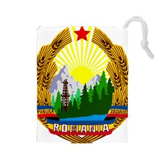 National Emblem Of Romania, 1965 1989  Drawstring Pouches (large)  by abbeyz71