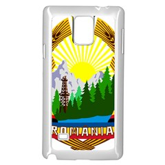 National Emblem Of Romania, 1965 1989  Samsung Galaxy Note 4 Case (white) by abbeyz71
