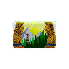National Emblem Of Romania, 1965 1989  Cosmetic Bag (xs) by abbeyz71