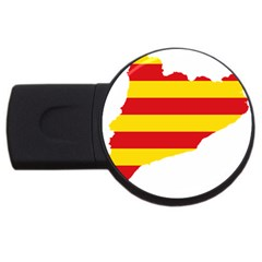 Flag Map Of Catalonia Usb Flash Drive Round (4 Gb)  by abbeyz71