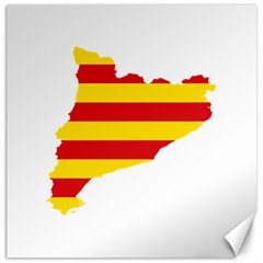 Flag Map Of Catalonia Canvas 20  X 20   by abbeyz71